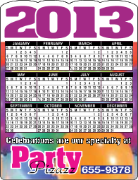 Calendar Magnets 2014