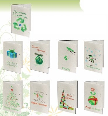 Seeded Paper Stock Design Christmas Holiday Cards