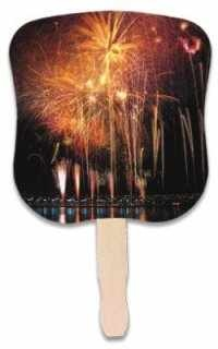 Fireworks Hand Fan
