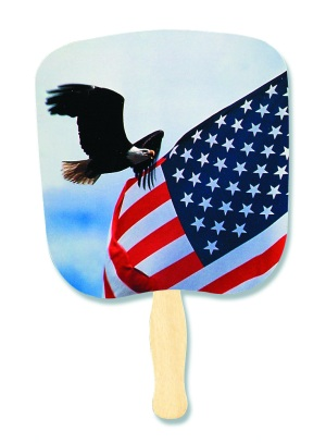 Eagle & Flag Patriotic Hand Fan