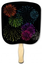 Light Up the Night Fireworks Hand Fan