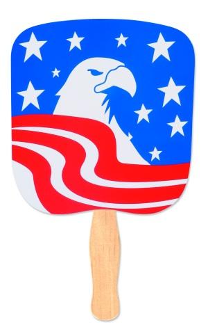 Patriotic Eagle Handheld Fan