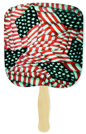 Quilted Glory Patriotic Fan