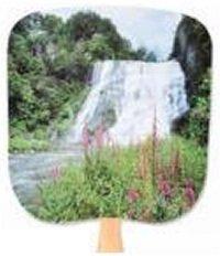 Waterfall Scenic Paper Fan