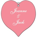 Personalized Heart shape Window Sign