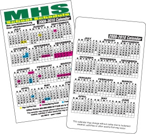 At A Glance School Calendar Magnet with custom logo