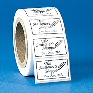 Rectangle Roll Label Stickers