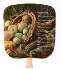 Abundant Living Inspirational Hand Fan