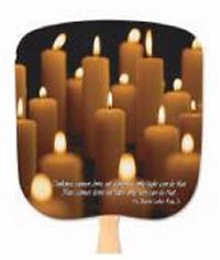 Candles - Light in the Darkness Inspirational Fan