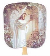 Christ Knocking Hand Fan