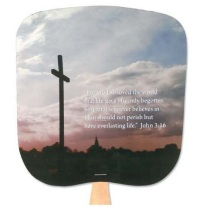 John 3:16 Church Hand Fan