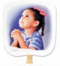 Prayerful Church Hand Fan