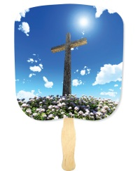 Cross Inspirational Hand Fan