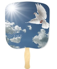 Peace Inspirational Handheld Fan