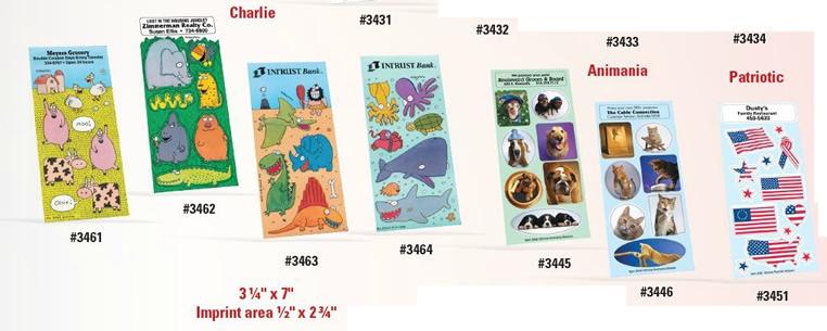 Custom Imprinted Sticker Sheets