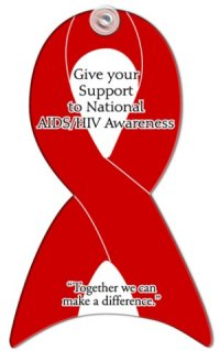 Customized Awareness Ribbon Window Sign