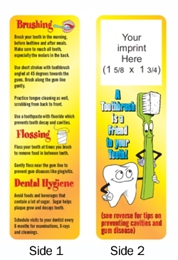 Dental Hygiene Personalized Bookmarks