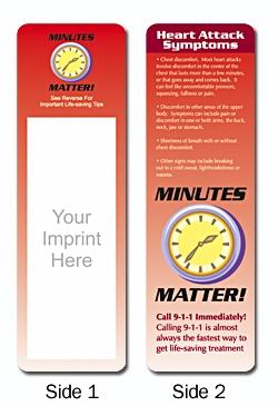 Custom Heart Attack Symptoms Bookmark