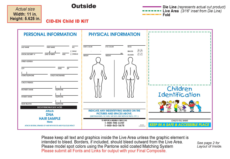 Custom Child Indentification Kit