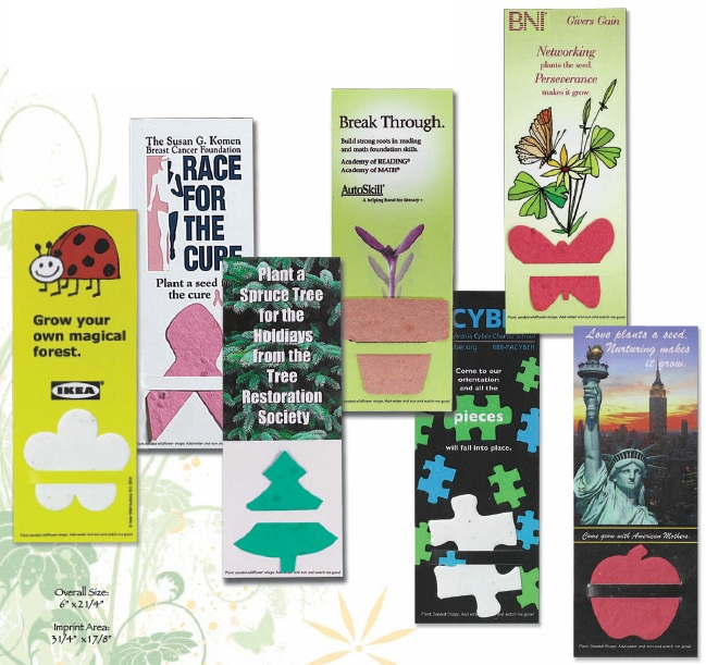 Personalized Plant-A-Shape Bookmarks