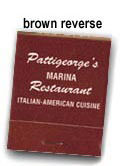 Customized Reverse Brown on Beige Match Books