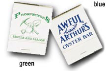 Custom Matchbook Blue and Green on White