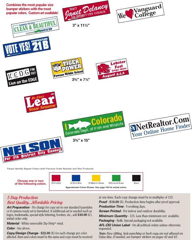 Personalized Custom Designed Bumper Stickers