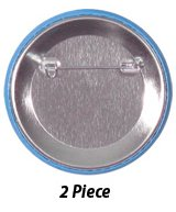 Safety Pin Backing on Custom Round Campaign Buttons