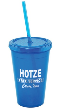 US Made Acrylic Tumbler in Blue