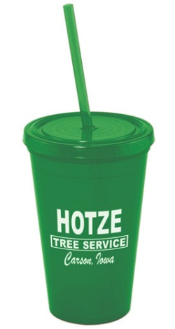 US Made Acrylic Tumbler in Green