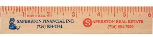 Wholesale Large 6-inch Wood Ruler with Natural Finish Flat