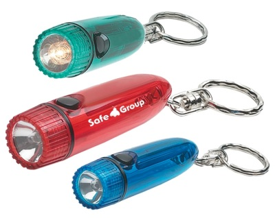 Torpedo Cylinder Flashlight on Key Chain