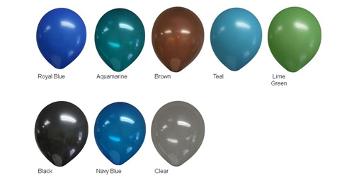 "11"" Decorator Balloon Colors"