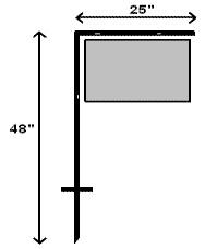 25x48 L Bar Stake