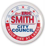 election campaign pins