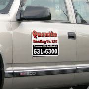 Magnetic Sign Shown on Truck