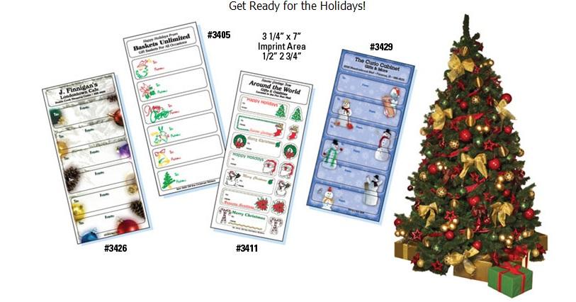 Imprinted Christmas Gift Tags