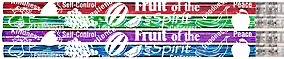 Fruit of the Spirit Inspirational Designer Pencils