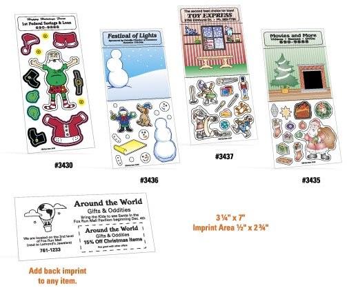Customized Christmas Peel 'n Play Sticker Sheets