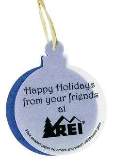 Imprinted Seed Paper Christmas Ornament