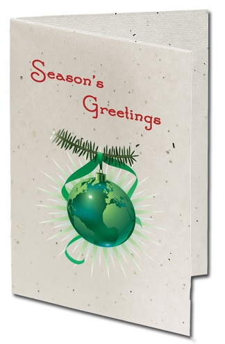 Seeded Paper Christmas Holiday Cards