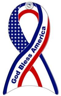 Custom God Bless America Window Sign