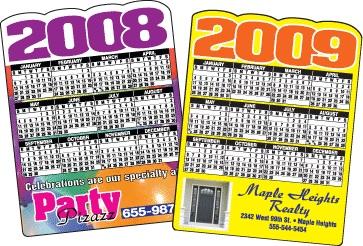 Die Cut Customized Calendar Magnet