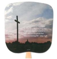 John 3:16 Church Hand Fan