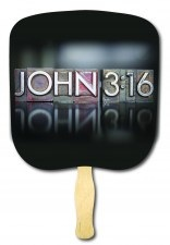 John 3:16 Block Religious Church Fan