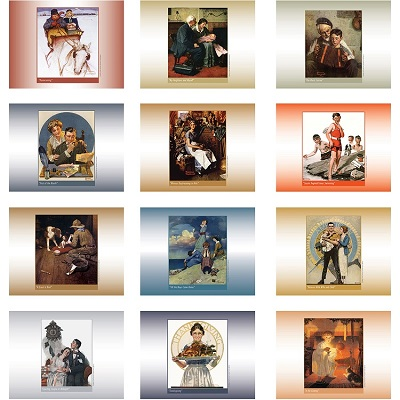 American Illustrator 2021 Calendar Monthly Scenes