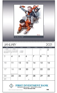 American Illustrator 2021 Calendar