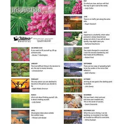 Inspiration 2021 Calendar Monthly Scenes