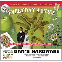 Old Farmers Almanac Advice 2021 Calendar Cover