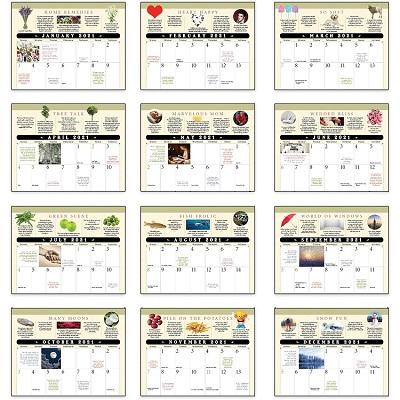 Old Farmers Almanac Advice 2021 Calendar Monthly Scenes